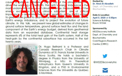 Cancelled: Guest Lecture: Dr. Hind Al-Abadleh Friday April 3rd 3:30pm @ Wilfrid Laurier University: Science Building room N1044